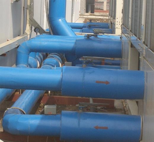 空调水管室外效果图